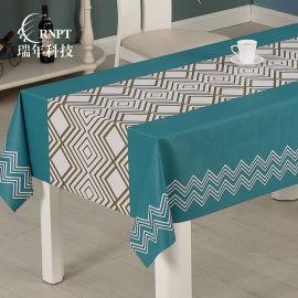 RNPT瑞年 简约印花台布 防水免洗PVC桌布