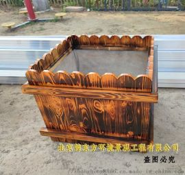 现货供应花箱防腐木花盆户外实木花槽