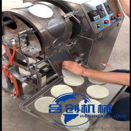 烤鸭卷饼机 北京烤鸭饼机报价 全自动烤鸭饼流水线