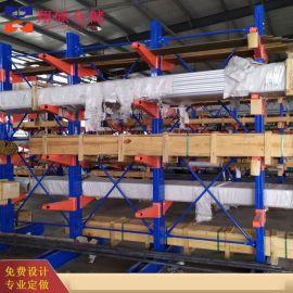 威海悬臂阁楼货架钢管置物架山东货架大全