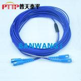 铠装光纤跳线 SC-SC铠甲光纤活动连接器