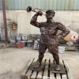 佛山玻璃鋼主題人物雕塑定做 長征紅軍仿銅雕像
