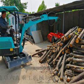 电力输送机 挖机破碎锤原理 六九重工 轮式小型挖