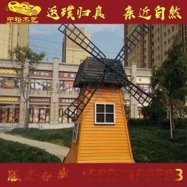 重庆防腐木欧式实木风车木结构景观风车木结构景观风车定做