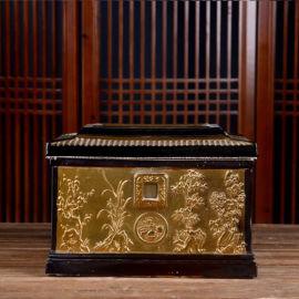 景德镇土骨灰盒大号陶瓷棺材
