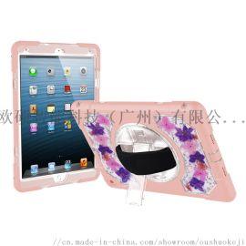 适用iPad 10.5 粉色硅胶真花滴胶保护套
