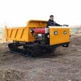 小型山地履帶運輸車 農用爬山虎座駕式自卸搬運車