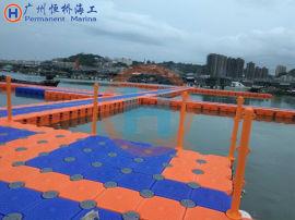 恒桥水上塑料浮筒游艇码头浮动平台网箱养殖