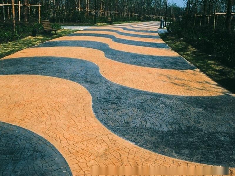 彩色艺术地坪压花地坪,压模地坪的优点详细介绍