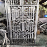 铝合**格图片 金属铝花格效果 造型木纹铝花格纹理