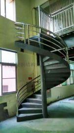 复式钢结构旋转楼梯,旋转楼梯,旋转梯