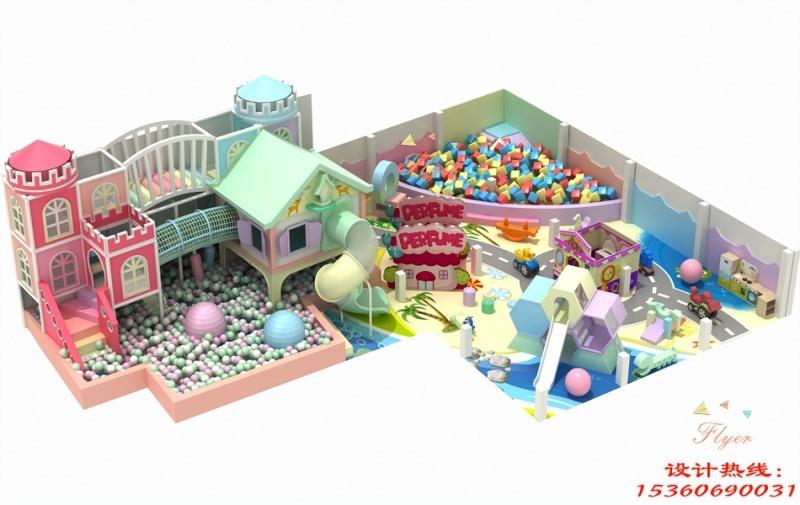 马卡龙主题室内淘气堡 儿童乐园设备 飞翔家马卡龙主题淘气堡