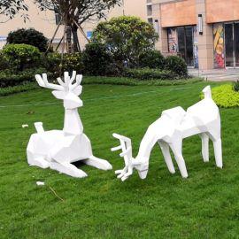 景观雕塑抽象鹿雕塑公园广场园林摆件 玻璃钢雕塑