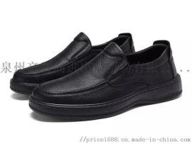 新款商务休闲鞋爸爸鞋头层软牛皮鞋靴