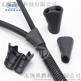 绿色环保塑料波纹管变径三通打开式  抗磨耐压