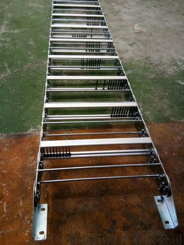 抛丸机金属钢制拖链, 铜陵市铜陵县机床穿线钢制拖链