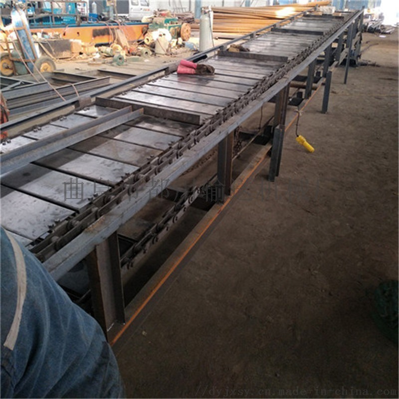 链板机图片 板链输送机参数 都用机械金属链板输送机
