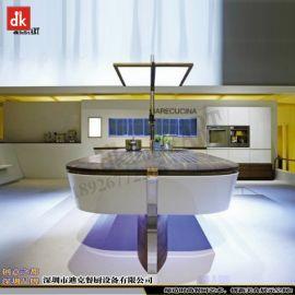 dk别墅开放式厨房设备 航母餐台造型