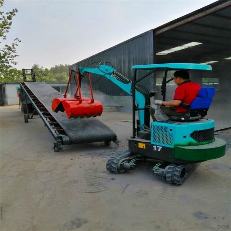 园林挖掘机 挖掘机交易市场 六九重工 木头抓机价