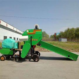 陕西青储打捆包膜机,全自动玉米秸秆打捆机