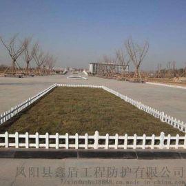 山東淄博绿化防护栏的 pvc草坪护栏图片大全