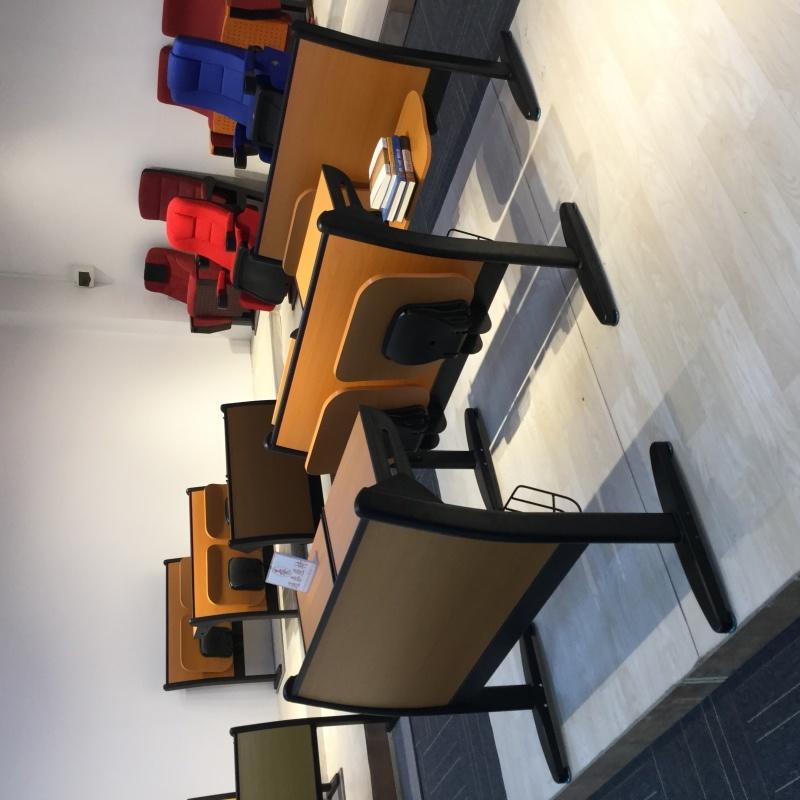 課桌椅階梯教室排椅多媒體教室桌椅大學教室會議廳培訓室常用-212