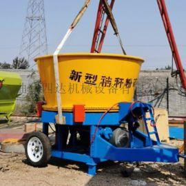 牧草饲料圆捆破碎机 自动圆筒粉碎机 成捆稻草粉碎机