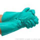 霍尼韦尔LA132G无衬丁腈手套 耐油防水防化手套