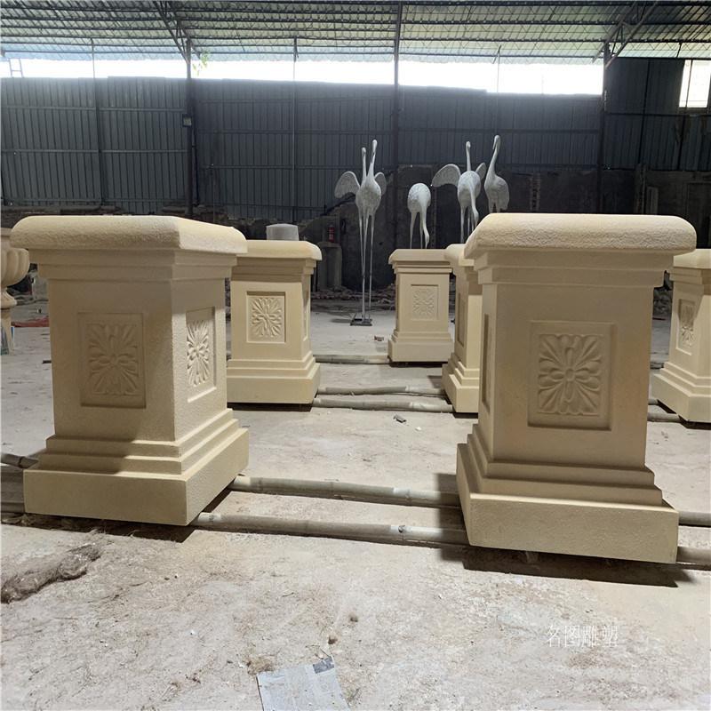 玻璃鋼柱頭造型定做 歐式羅馬柱頭雕塑