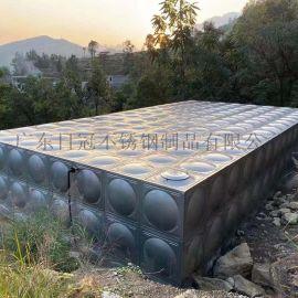 焊接式保温水箱定制贵港不锈钢双层圆形储水罐规格定制
