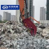 粉碎房屋樑柱水泥杆 拆除液壓鉗挖機破碎夾