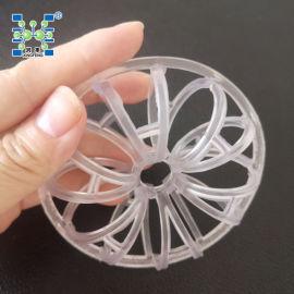 大量供应73mm PVC泰勒花环填料/塑料化工填料