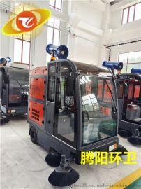 腾阳电动驾驶式扫地车的工作原理
