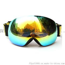 滑雪镜成**框球面新户外双层防雾滑雪眼镜护目镜批发