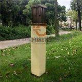 長方形草坪燈防水立柱燈仿雲石柱頭燈專業定製戶外燈