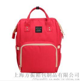 厂家直销定制舒适大容量双肩妈咪包专业轻便时尚妈咪包