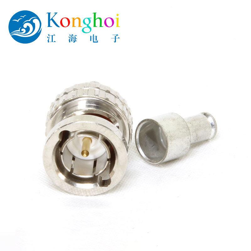 江海電子75Ω-BCP-C系列BNC-壓接插頭