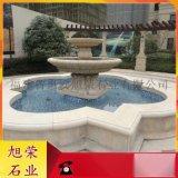 石雕喷泉欧式小区造景水钵 福建石材水钵厂家