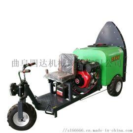 圣隆生产汽油手拉式打药机,自走式风送打药机