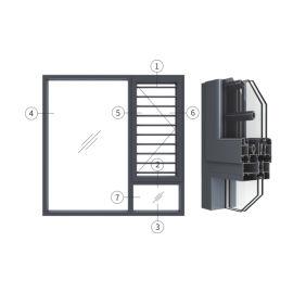创高GL108A系列窗纱一体隔热外平开窗