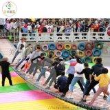 新疆網紅吊橋有了充氣氣墊的搭配多了更多玩法