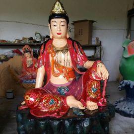 佛道家工艺 木雕华严三圣站像 树脂东方三圣佛像