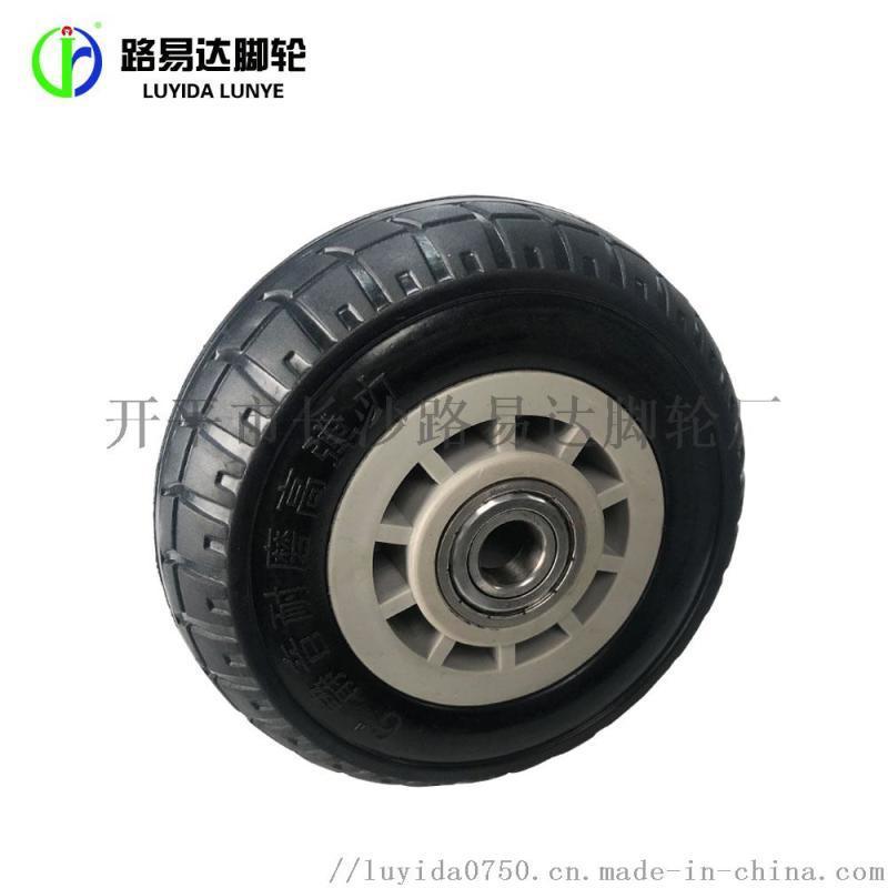 实心橡胶轮静音脚轮脚轮 广东省路易达LYD01脚轮 静音耐磨减震脚轮