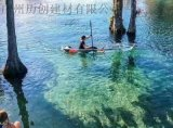 PC透明船透明皮划艇婚紗攝影船雙人釣魚船