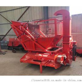 大型玉米杆收割机 秸秆切碎回收机 二次粉碎青储机