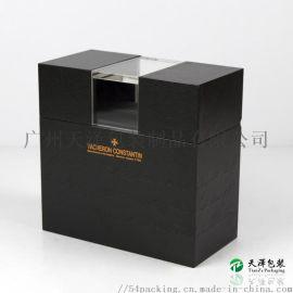 厂家定制品牌包装亚克力手表盒木质翻盖表盒