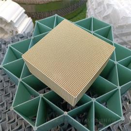 厂家供应钢玉莫来石蜂窝陶瓷载体 四方孔蜂窝陶瓷填料