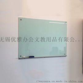 玻璃式白板带磁玻璃白板钢化玻璃白板生产