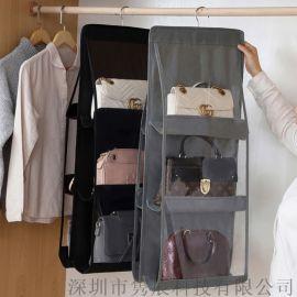 品质PVC+无纺布多层收纳包包挂袋