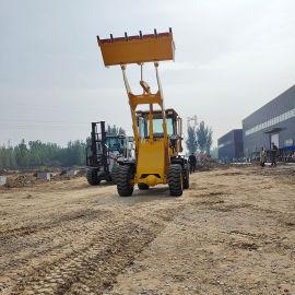 四驱农用铲粮铲土车 无级变速卸载3.5米加长臂